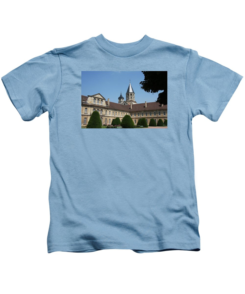 Cloister Kids T-Shirt featuring the photograph Cloister Cluny Garden View by Christiane Schulze Art And Photography