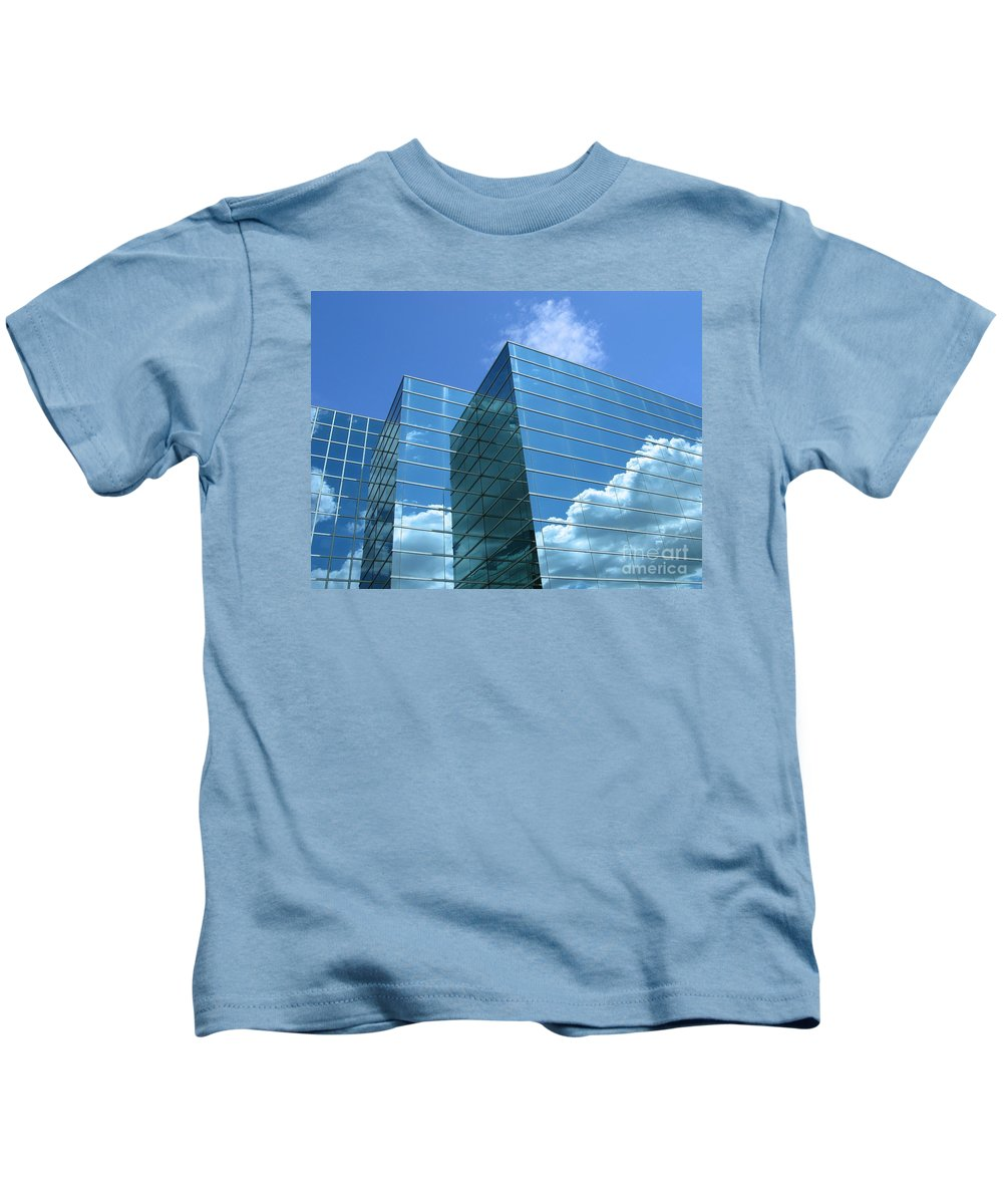 Building Kids T-Shirt featuring the photograph Cloud Mirror by Ann Horn