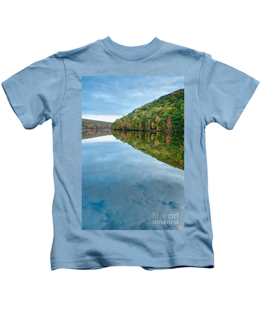 Chauncey Peak Kids T-Shirt featuring the photograph Lake - Cloud Mirror by JG Coleman