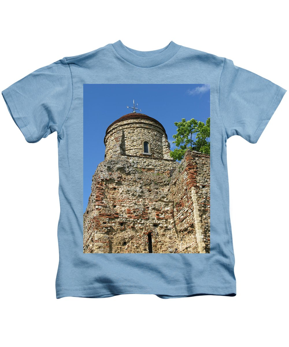 Castle Kids T-Shirt featuring the photograph Colchester Castle by Ann Horn