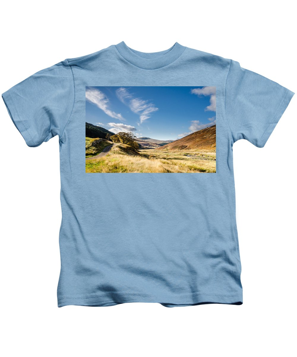 Northumberland Kids T-Shirt featuring the photograph College Valley And Lambden Burn by David Head