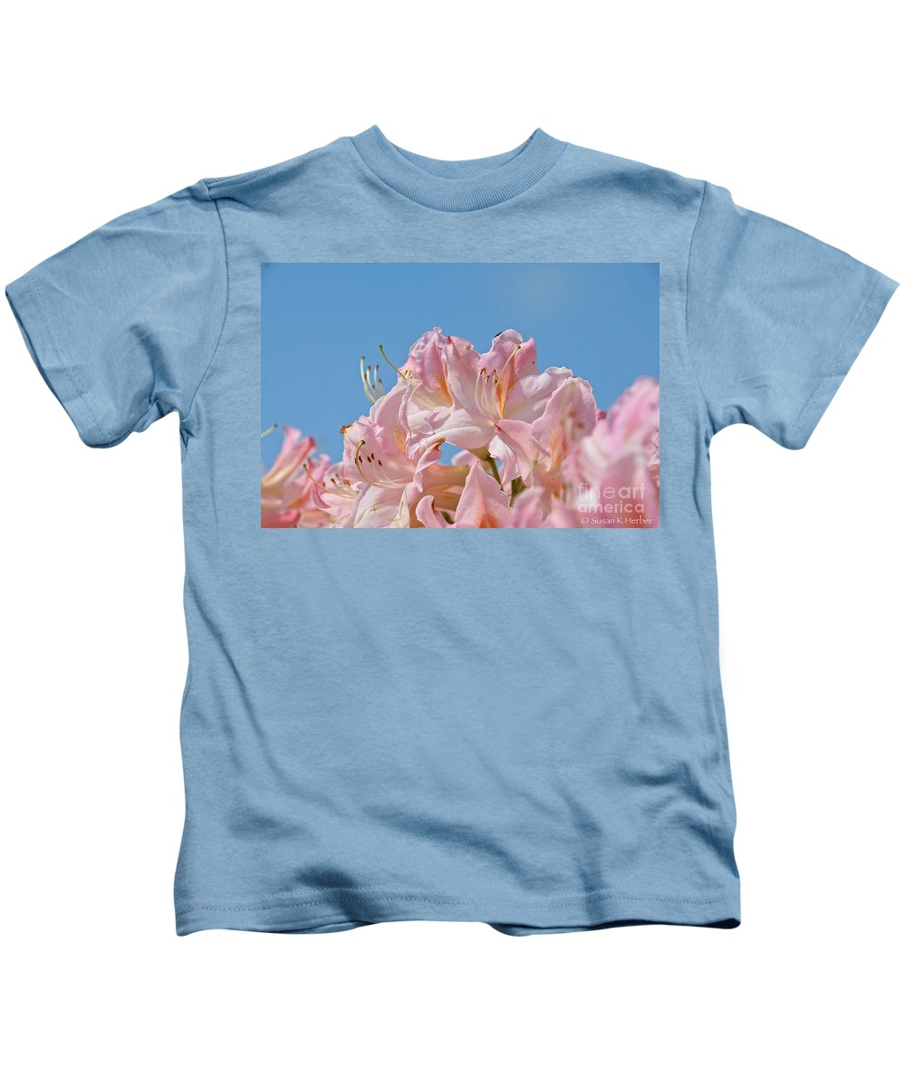 Flower Kids T-Shirt featuring the photograph Confectioners Pink by Susan Herber