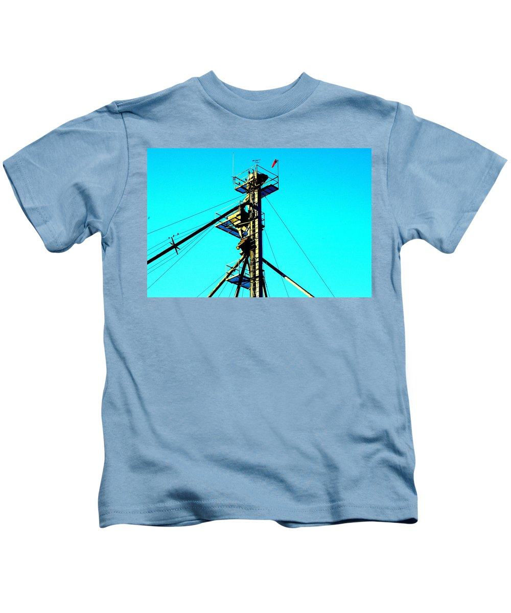 Elevator Kids T-Shirt featuring the photograph Control by Joseph Yarbrough