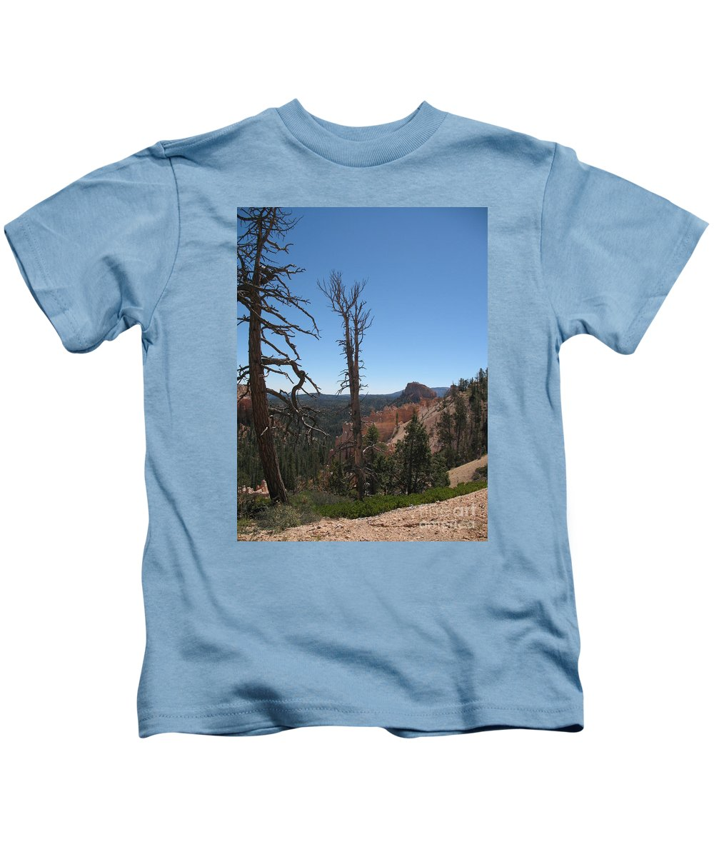 Bryce Canyon Kids T-Shirt featuring the photograph Dead Trees At Bryce Canyon by Christiane Schulze Art And Photography