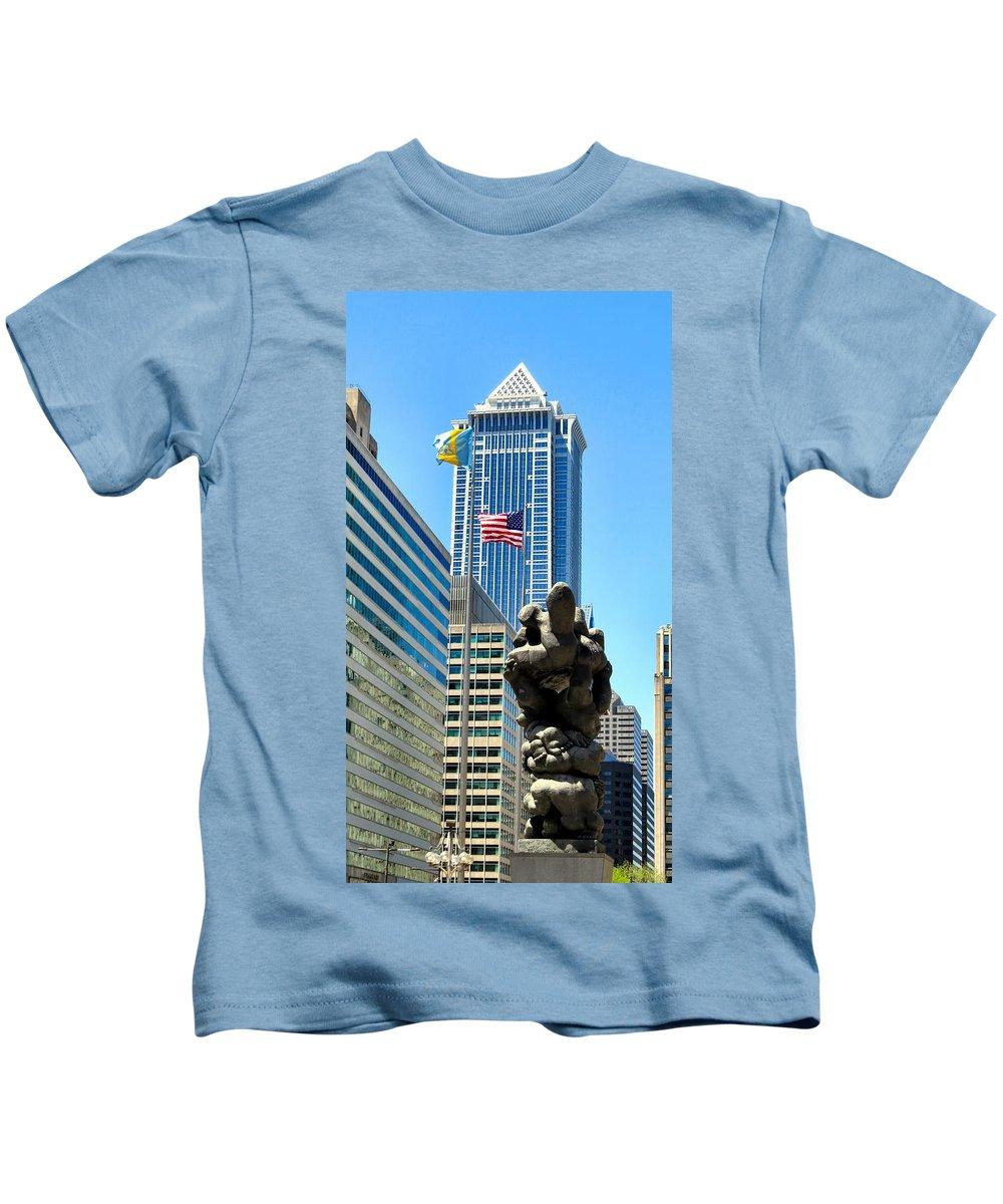 Span Kids T-Shirt featuring the photograph Declaration by Art Dingo
