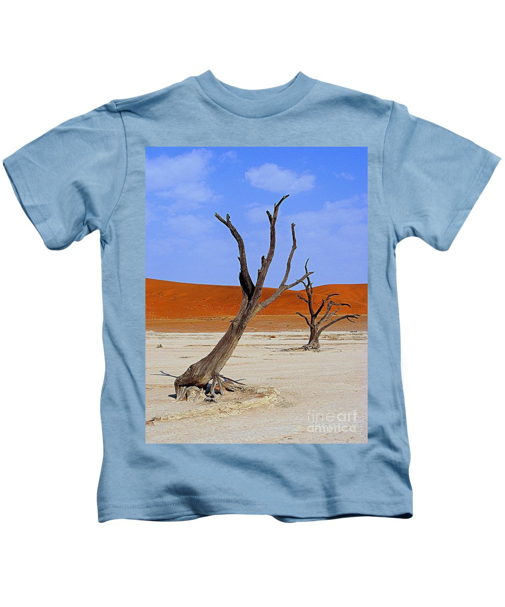 Trees Kids T-Shirt featuring the photograph Desert Trees by Noa Yerushalmi