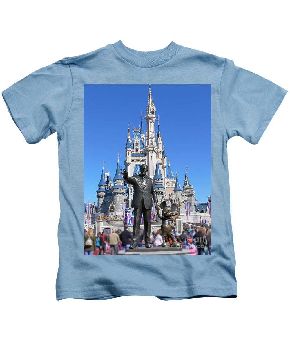 Walt Kids T-Shirt featuring the photograph Disney And Mickey by Kevin Fortier