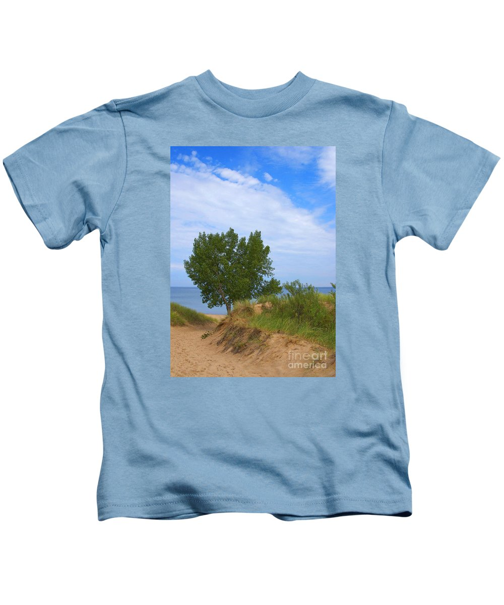 Dune Kids T-Shirt featuring the photograph Dune - Indiana Lakeshore by Ann Horn