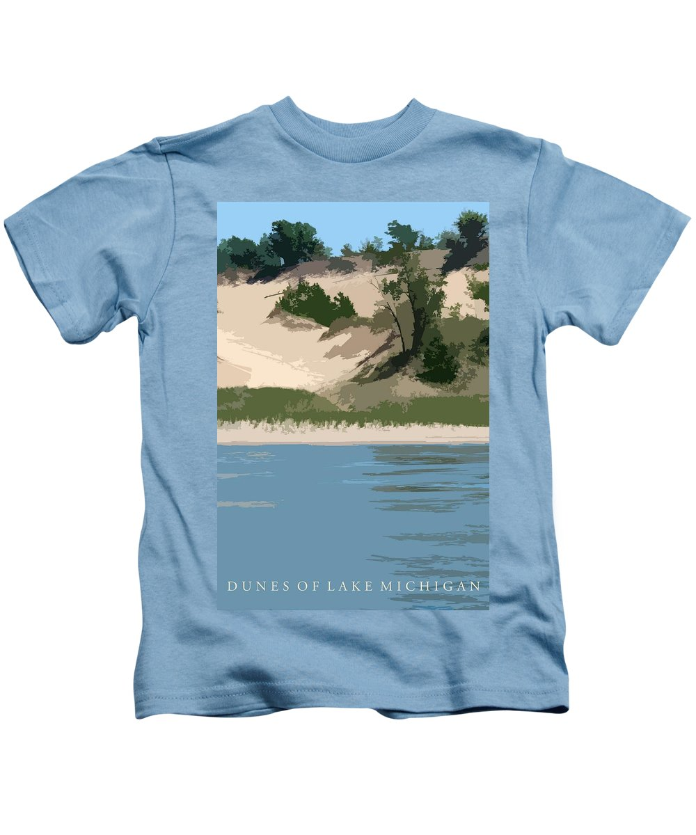 Dunes Kids T-Shirt featuring the photograph Dunes Of Lake Michigan by Michelle Calkins