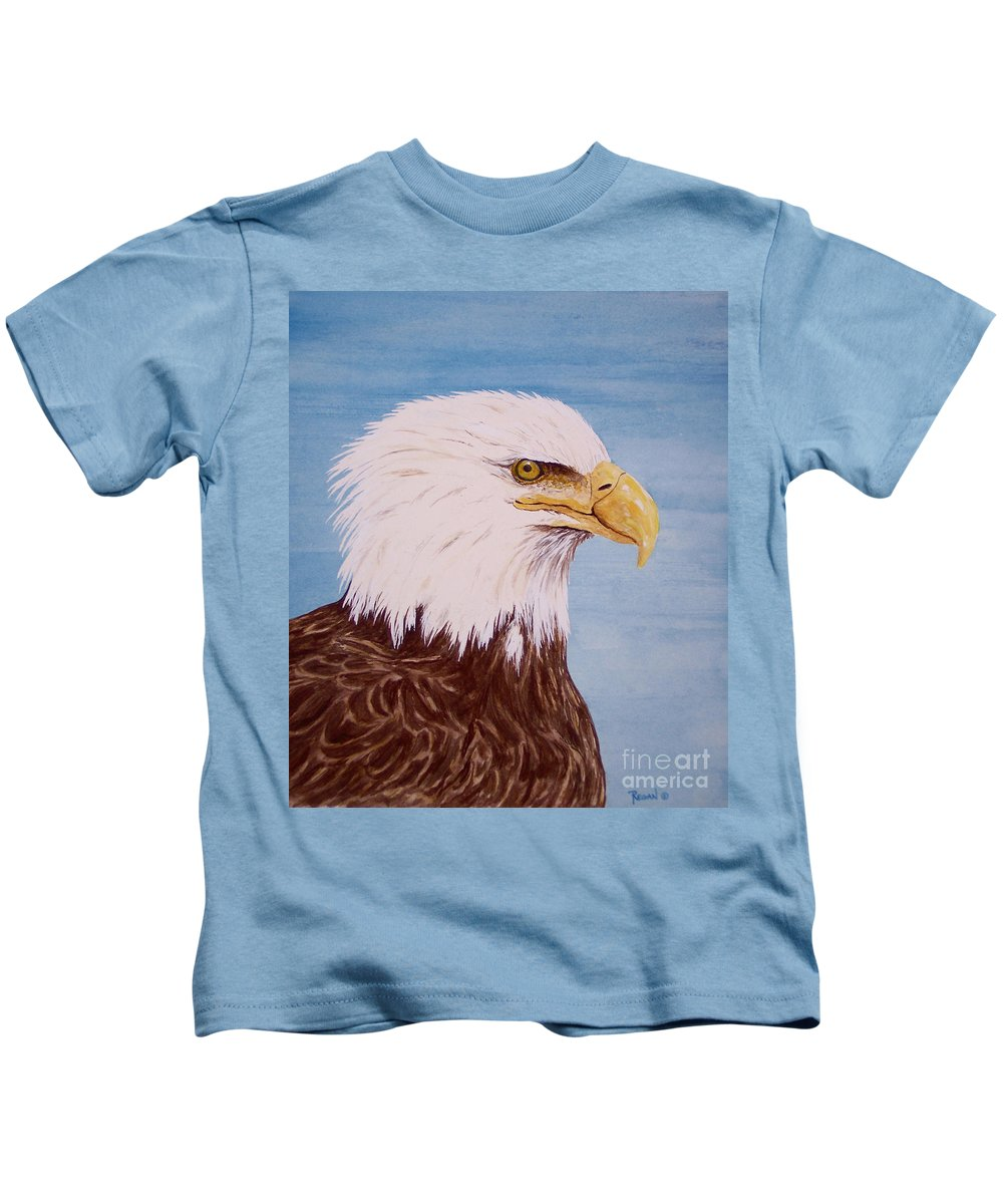 Eagle Kids T-Shirt featuring the painting Eagle by Regan J Smith