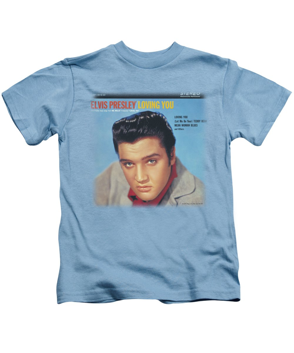 Elvis Kids T-Shirt featuring the digital art Elvis - Loving You Soundtrack by Brand A