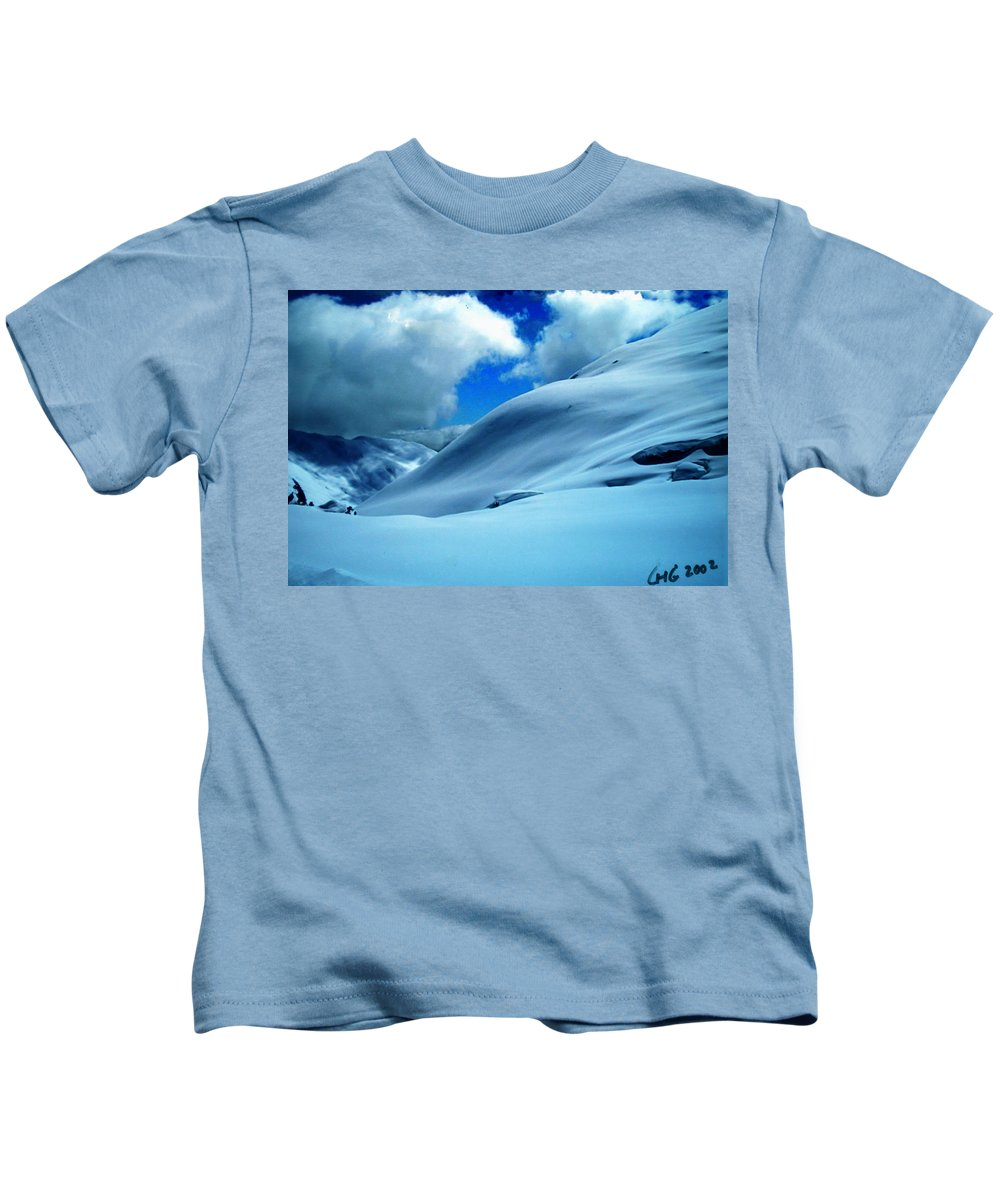 Colette Kids T-Shirt featuring the photograph Eye Catcher In Snow by Colette V Hera Guggenheim