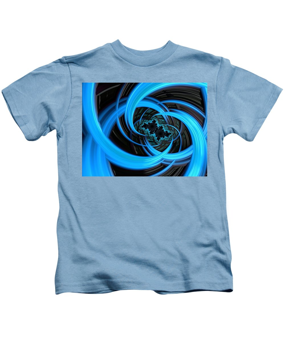 Abstract Kids T-Shirt featuring the photograph Fantasia Azul by Barbara Zahno