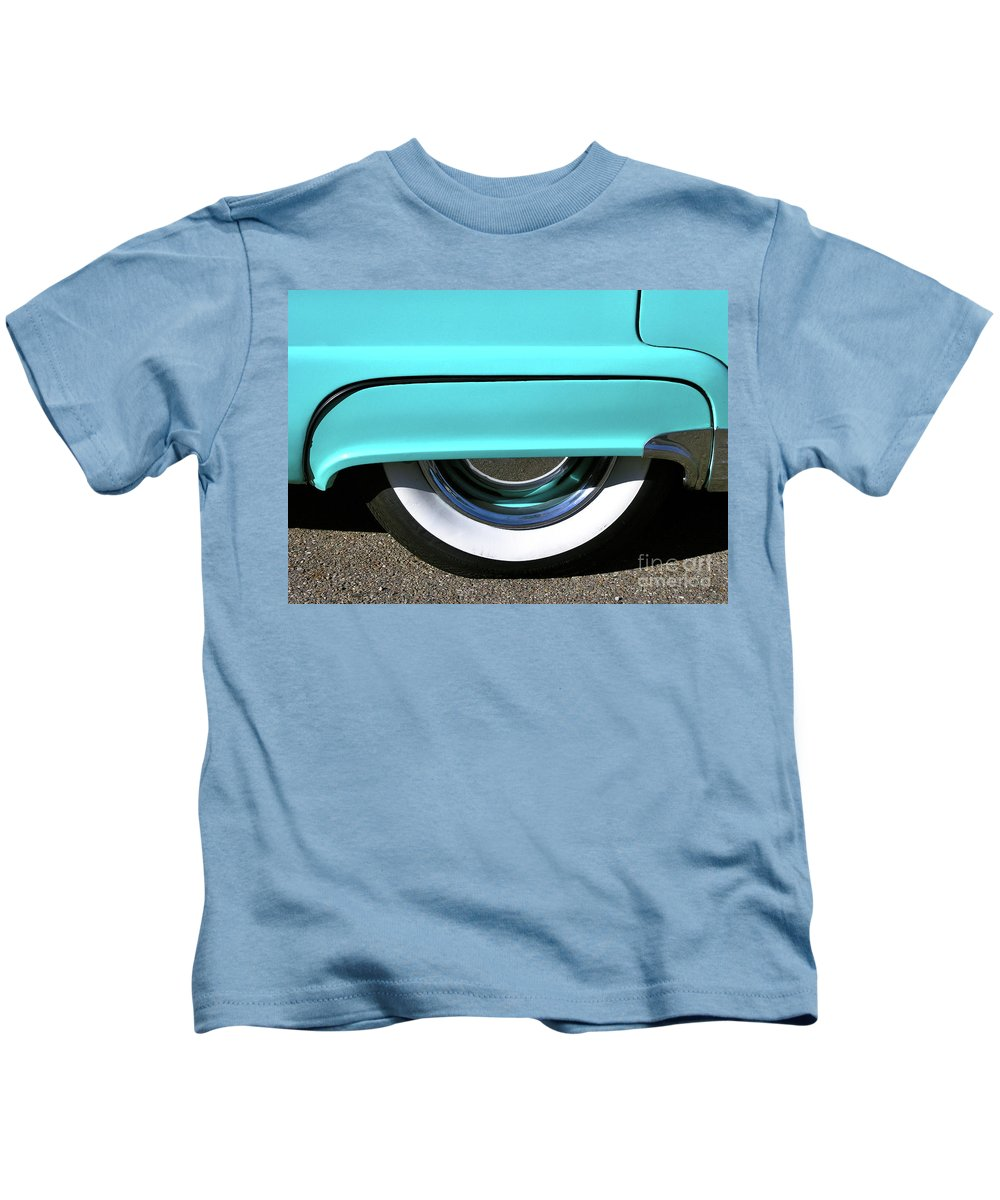 Vintage Kids T-Shirt featuring the photograph Fender What - 1955 Ford by John Waclo