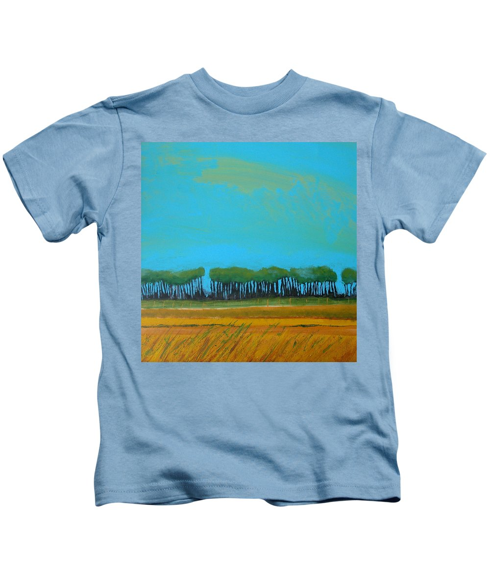 Landscape Kids T-Shirt featuring the painting Field 5 by Rhodes Rumsey