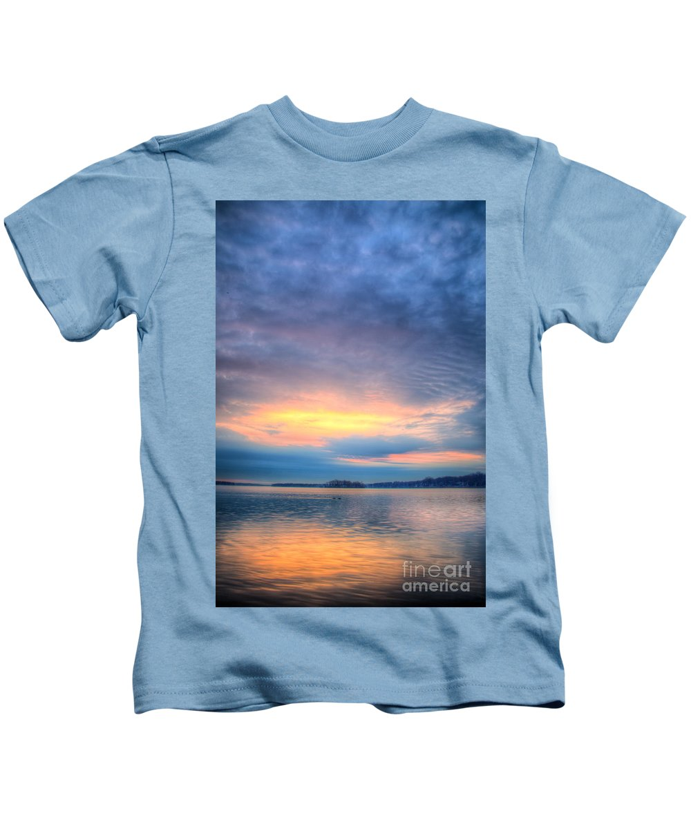 Hdr Kids T-Shirt featuring the photograph Firey Sunrise by Andrew Slater