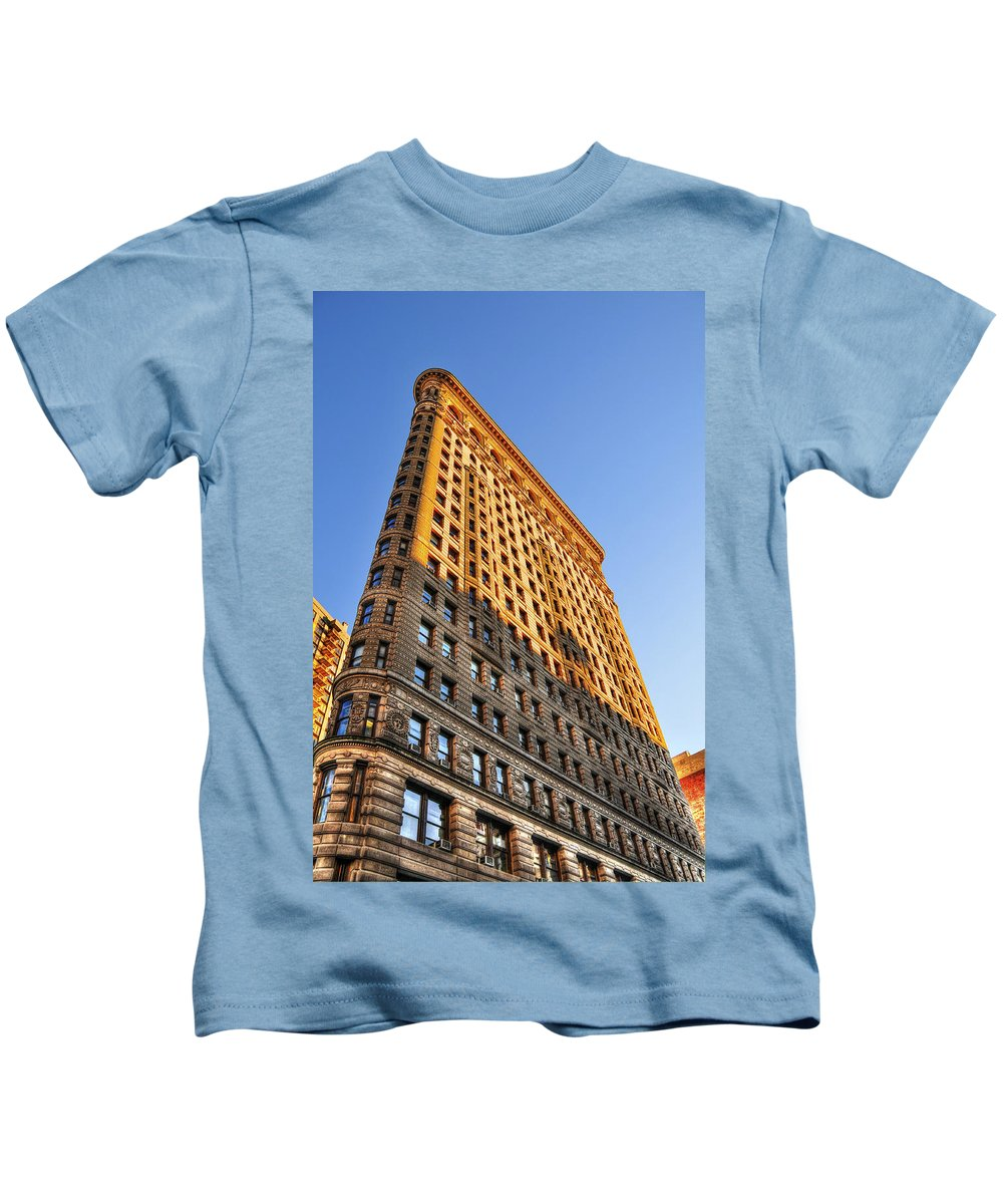 Flatiron Building Kids T-Shirt featuring the photograph Flatiron Building Profile Too by Randy Aveille