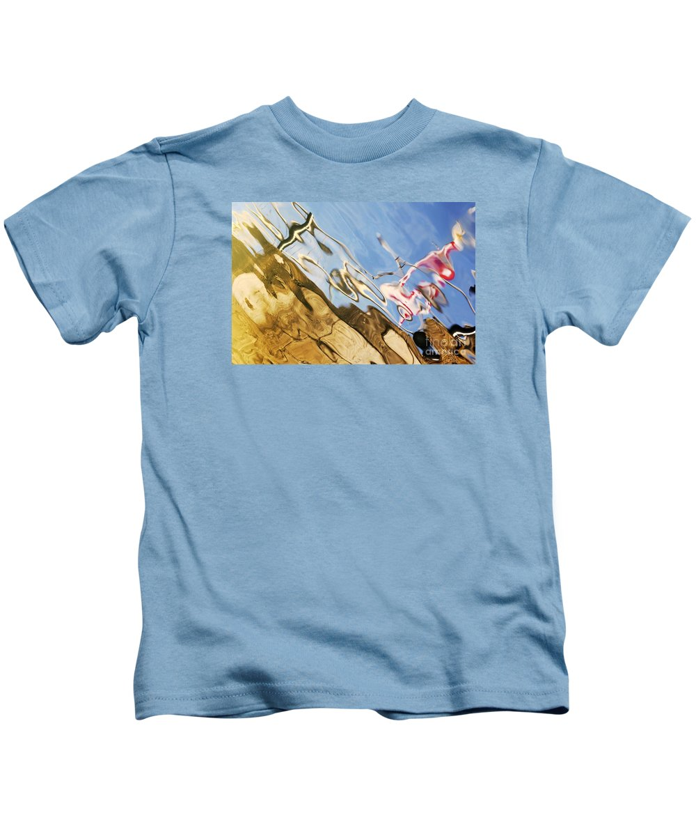 Floating Kids T-Shirt featuring the photograph Floating On Blue 29 by Wendy Wilton