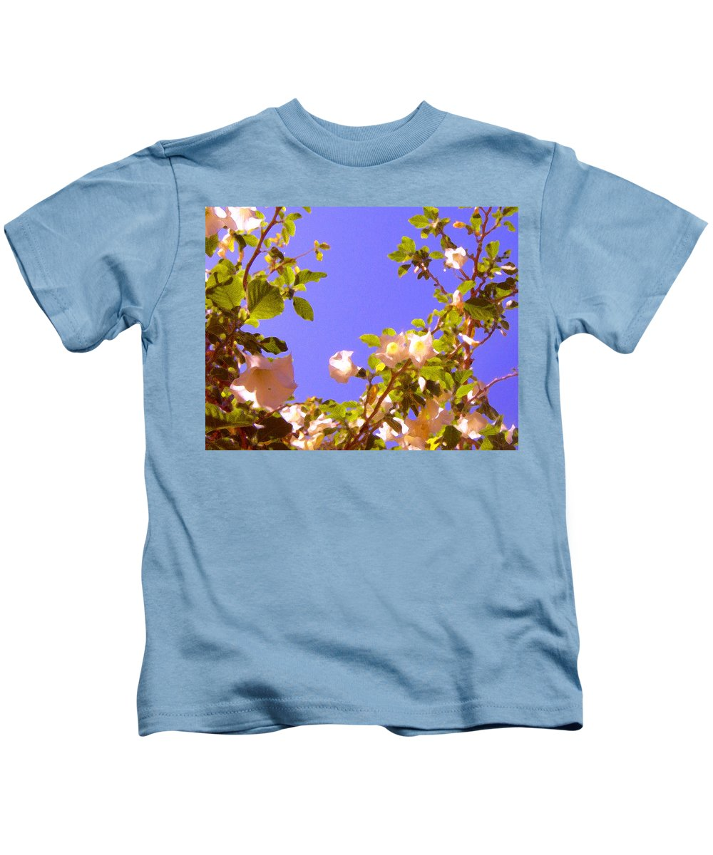 Landscapes Kids T-Shirt featuring the painting Flowering Tree 2 by Amy Vangsgard