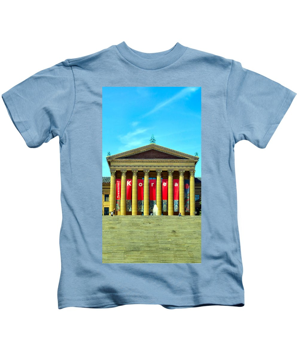 Philadelphia Kids T-Shirt featuring the photograph Forever Stairs by Art Dingo