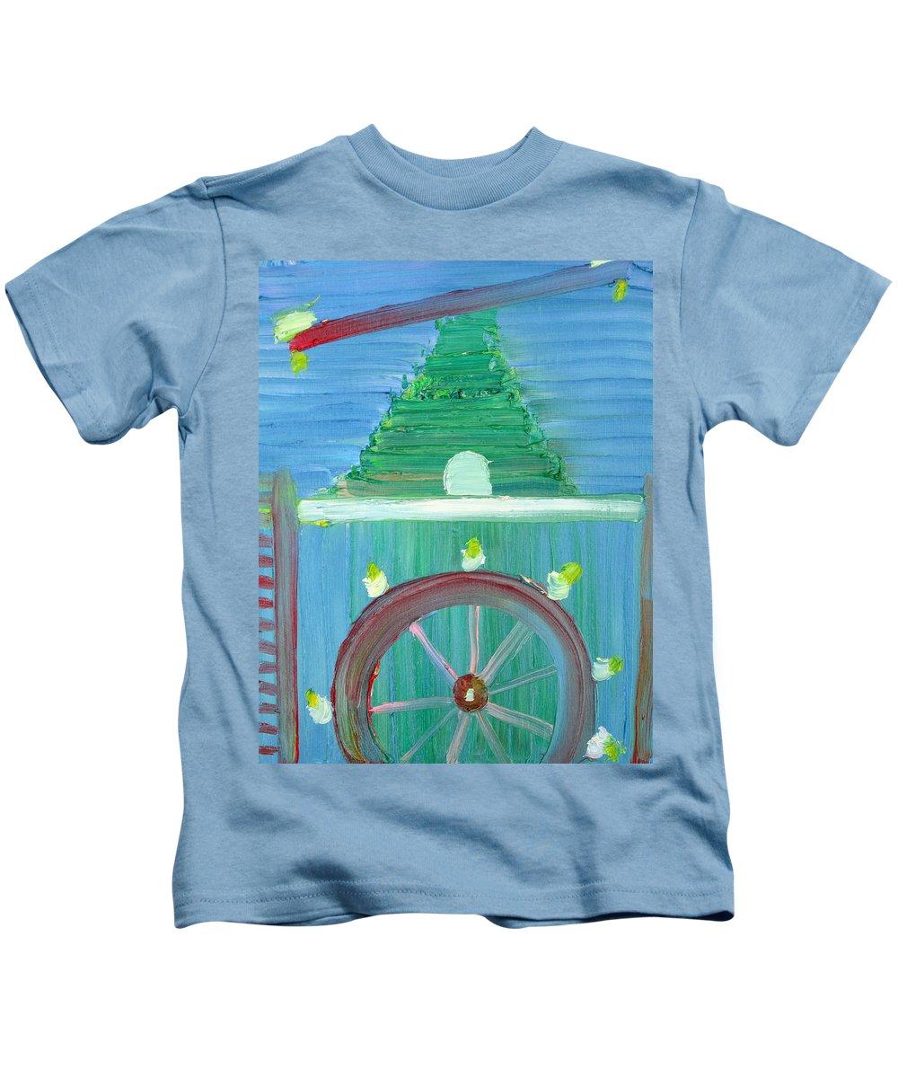 Funfair Kids T-Shirt featuring the painting Funfair by Fabrizio Cassetta