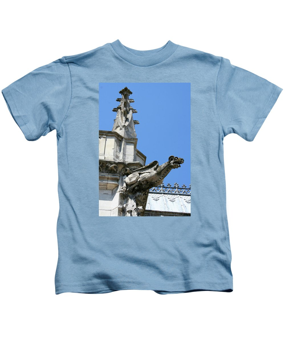 Gargoyle Kids T-Shirt featuring the photograph Gargoyle by Christiane Schulze Art And Photography