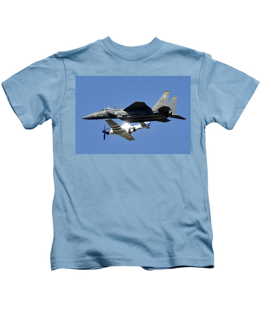 Aviation Kids T-Shirt featuring the photograph Generations In Flight by David Lee Thompson