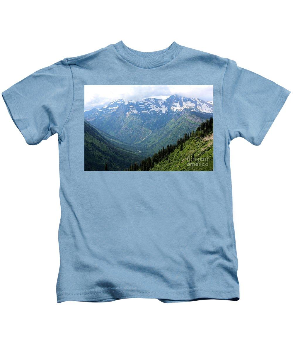 Mountain Kids T-Shirt featuring the photograph Glacier Mountain by Carol Groenen