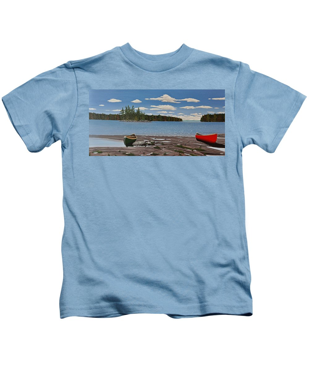 Landscapes Kids T-Shirt featuring the painting Glorious Day by Kenneth M Kirsch