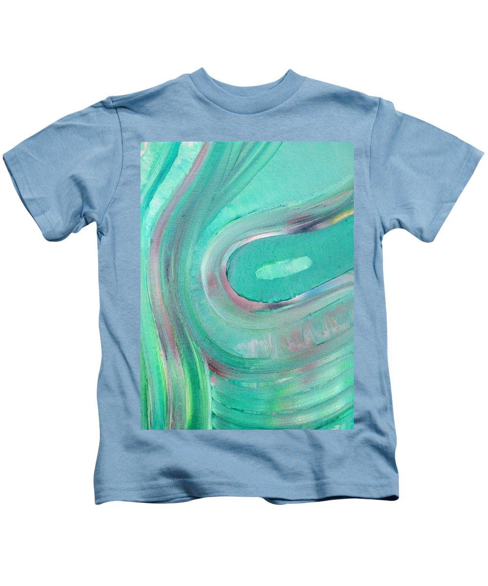 Golf Kids T-Shirt featuring the painting Golf by Fabrizio Cassetta