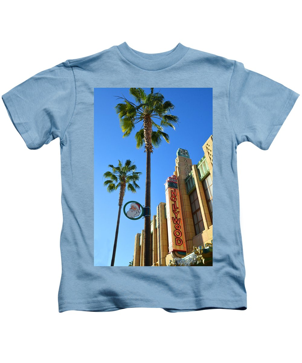 Hollywood Kids T-Shirt featuring the photograph Gone Hollywood Christmas by Lynn Bauer