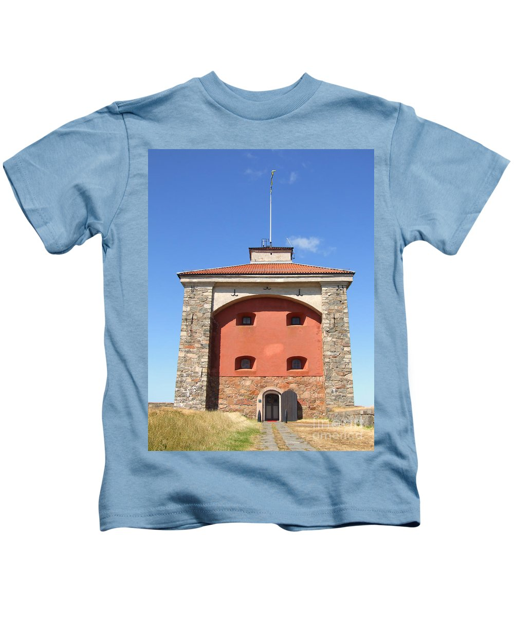 Abandoned Kids T-Shirt featuring the photograph Gothenburg Fortress 07 by Antony McAulay