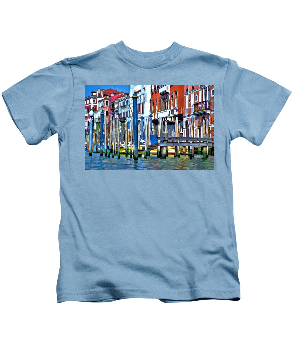 Italy Kids T-Shirt featuring the photograph Grand Canal - Venice by Allen Beatty