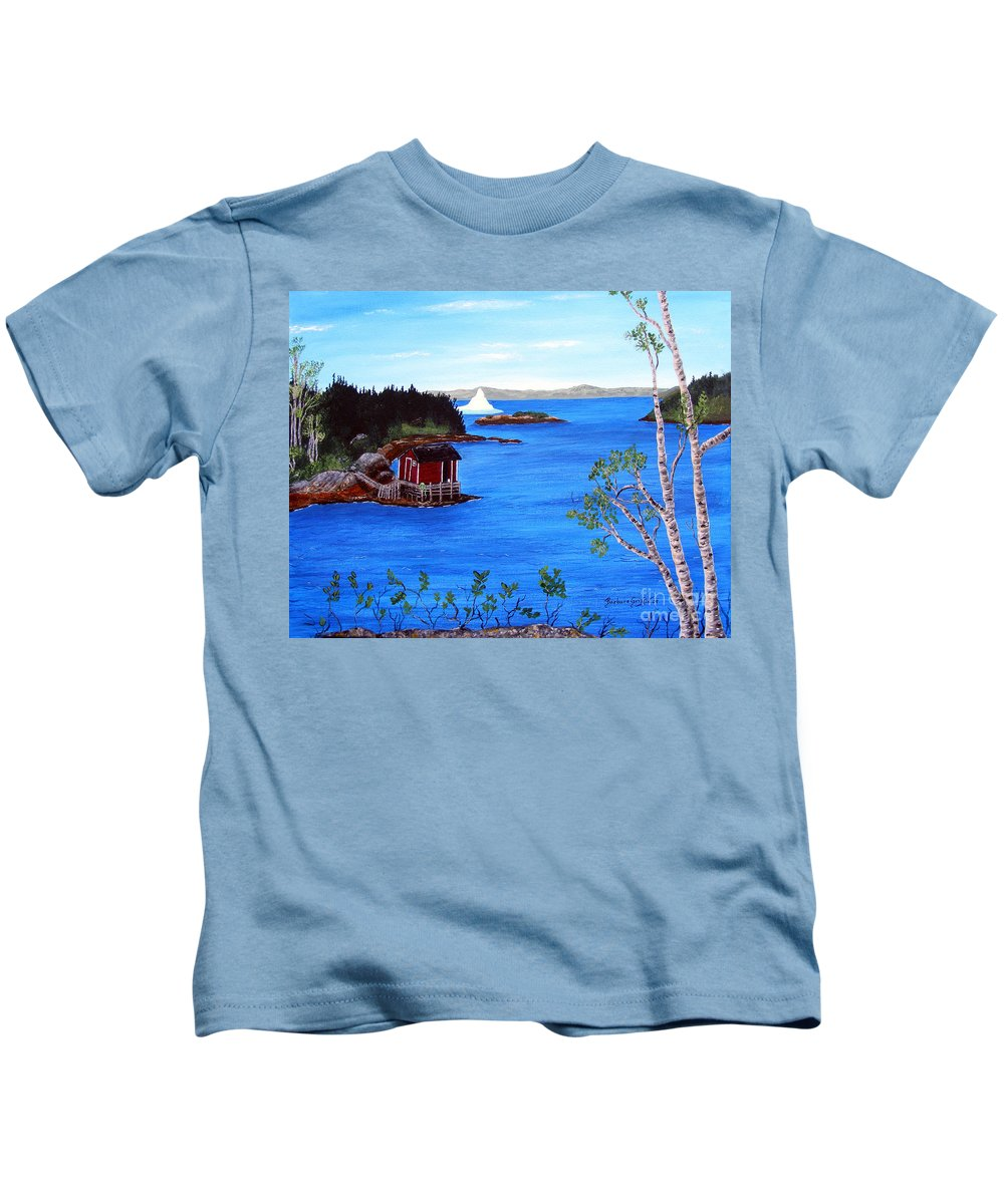Grounded Iceberg Kids T-Shirt featuring the painting Grounded Iceberg by Barbara Griffin