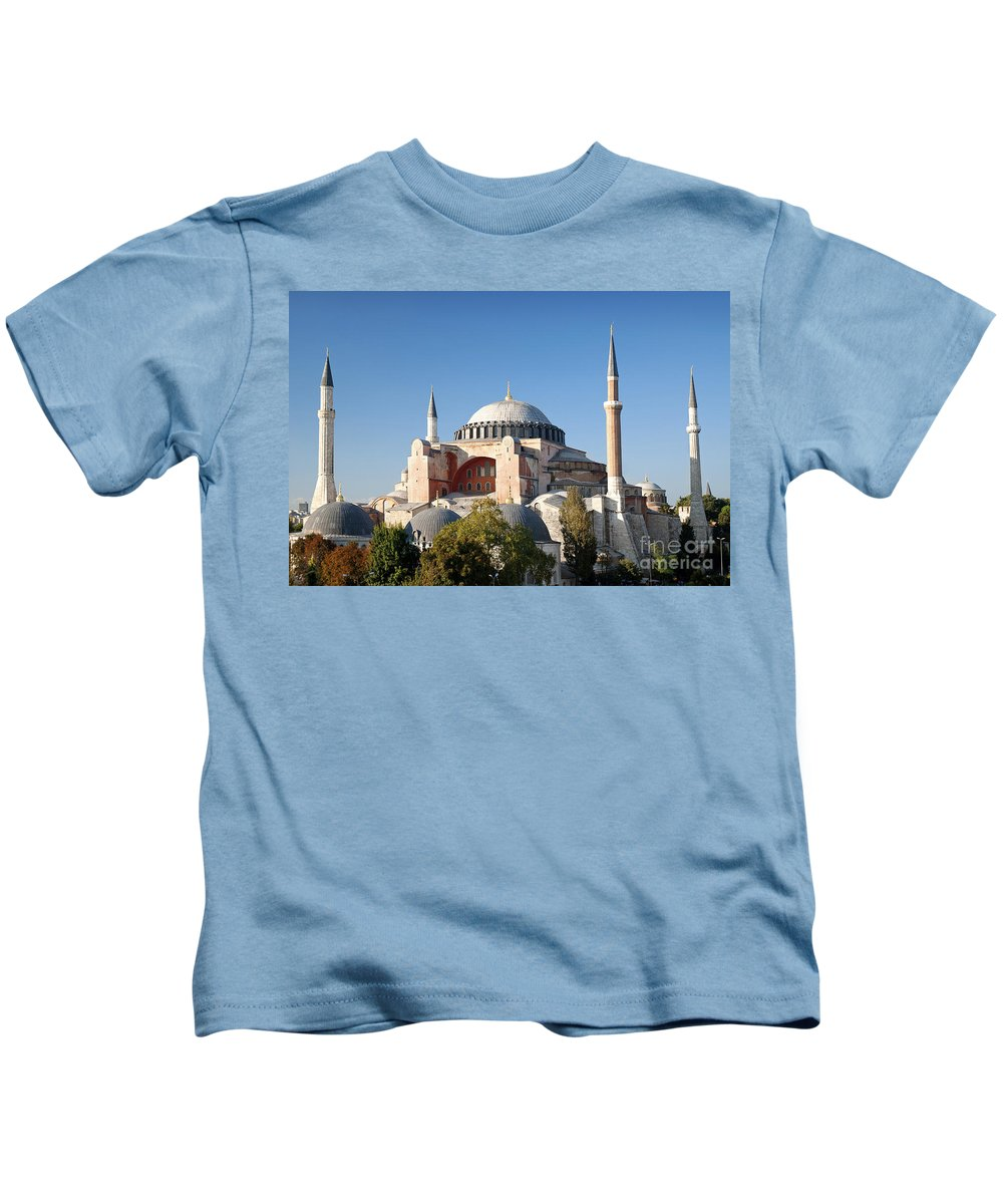 Architecture Kids T-Shirt featuring the photograph Hagia Sophia Mosque Landmark In Instanbul Turkey by Jacek Malipan