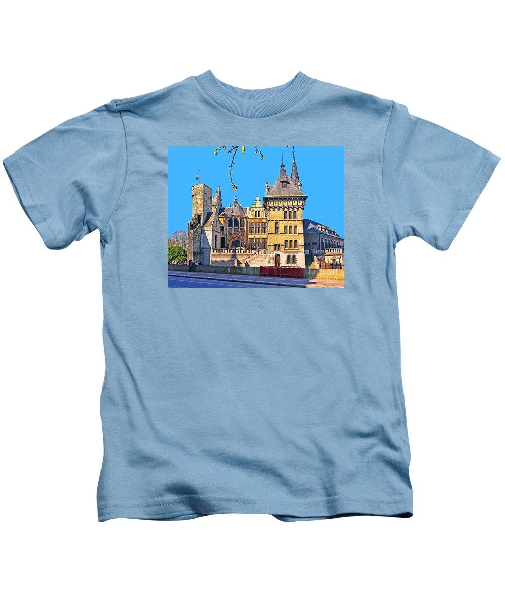 Travel Kids T-Shirt featuring the photograph Het Steen by Elvis Vaughn
