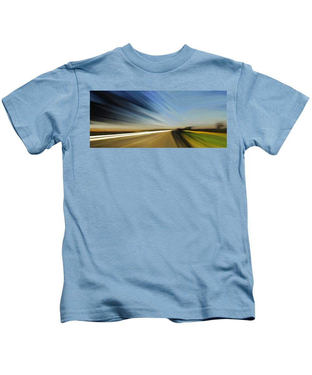 High Speed Kids T-Shirt featuring the painting High Speed 2 by Rabi Khan