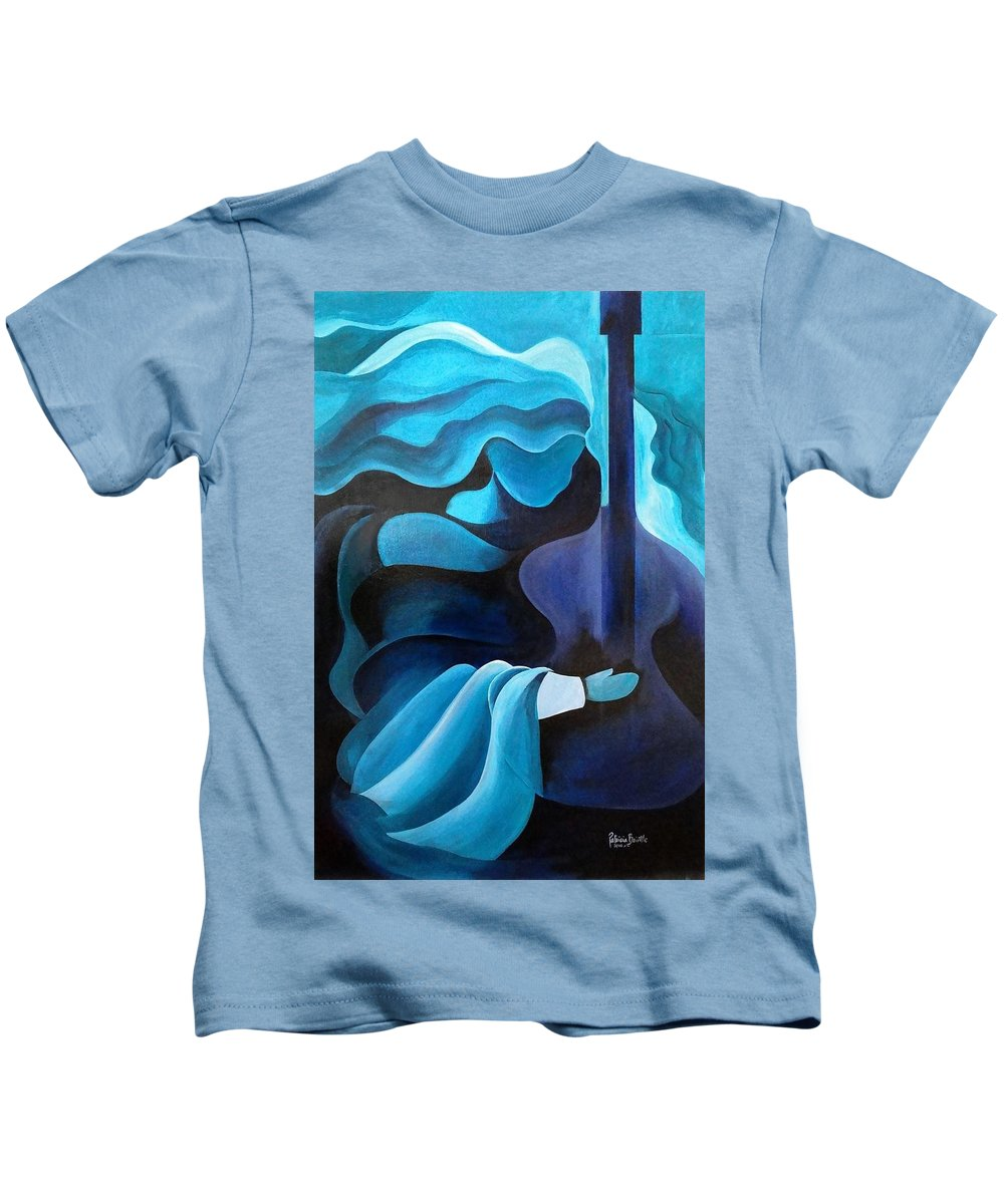 Haiti Kids T-Shirt featuring the painting I Hear Music In The Air by Patricia Brintle