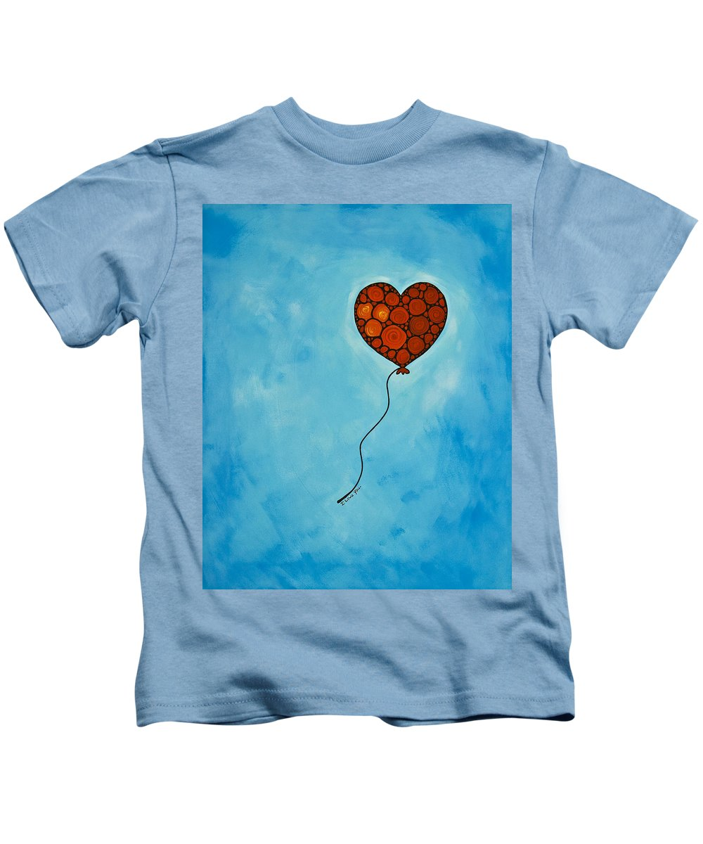 Love Kids T-Shirt featuring the painting I Love You by Sharon Cummings
