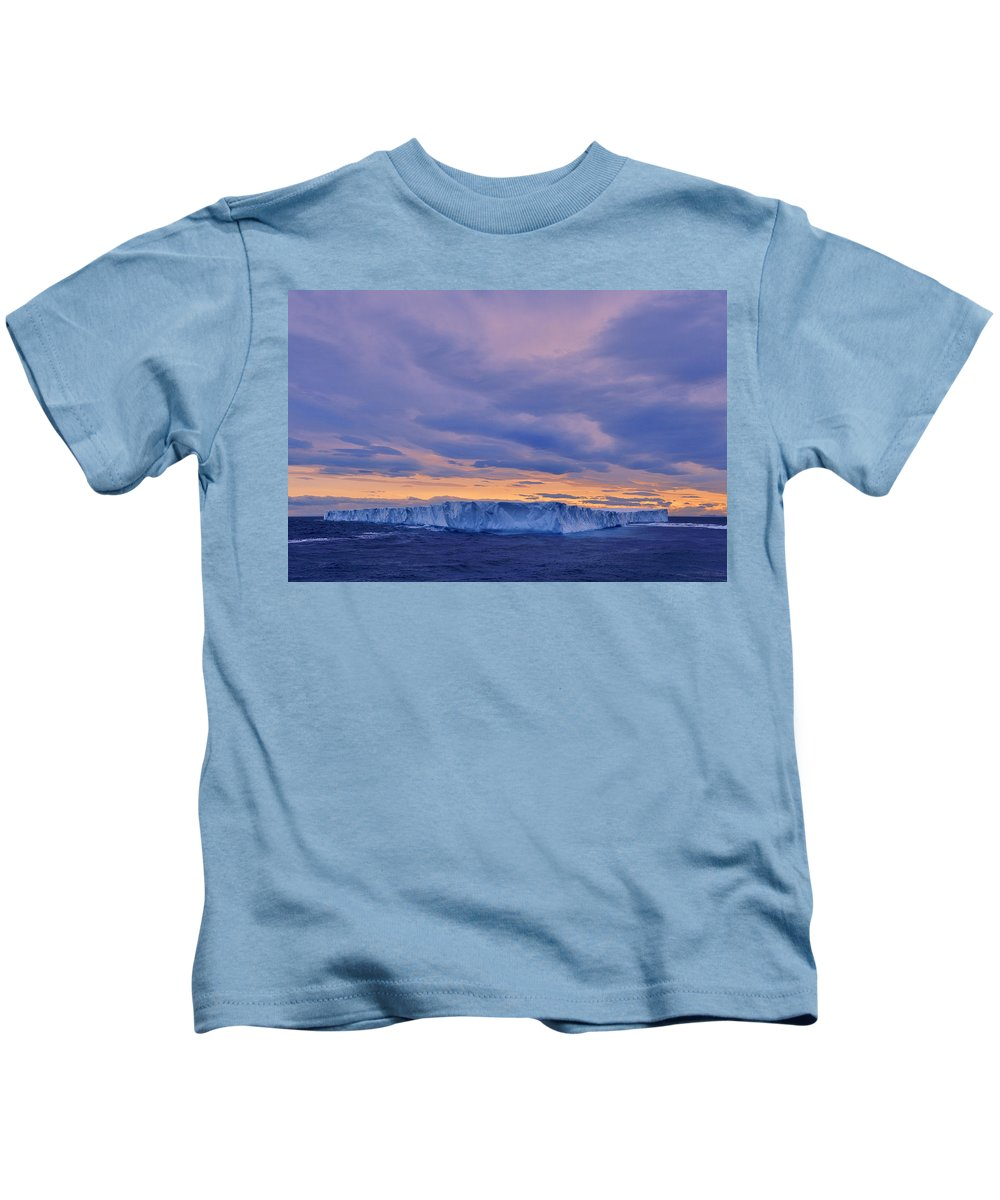 Ice Kids T-Shirt featuring the photograph Ice Island by Tony Beck