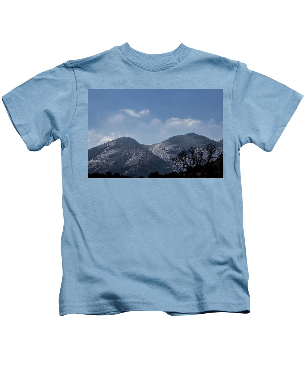 Ice Kids T-Shirt featuring the photograph Ice Reflections by Renny Spencer