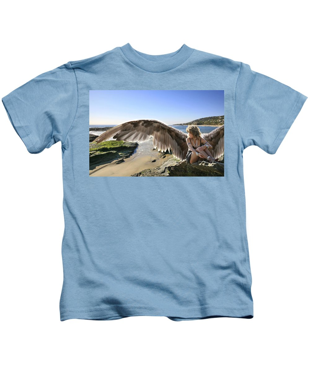 Angel Kids T-Shirt featuring the photograph I'm A Witness To Your Life by Acropolis De Versailles