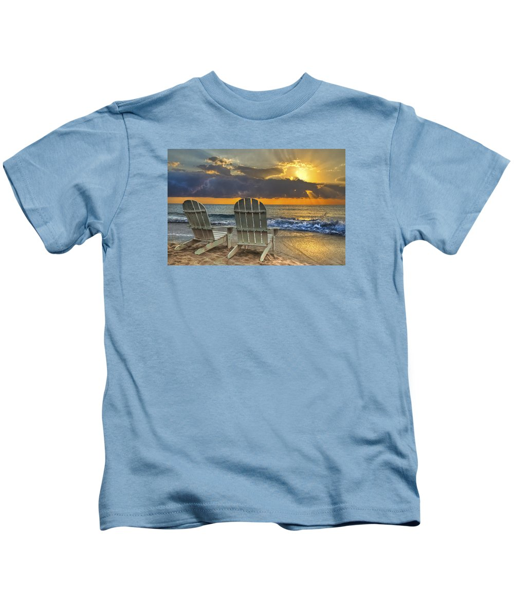 Zen Kids T-Shirt featuring the photograph In The Spotlight by Debra and Dave Vanderlaan