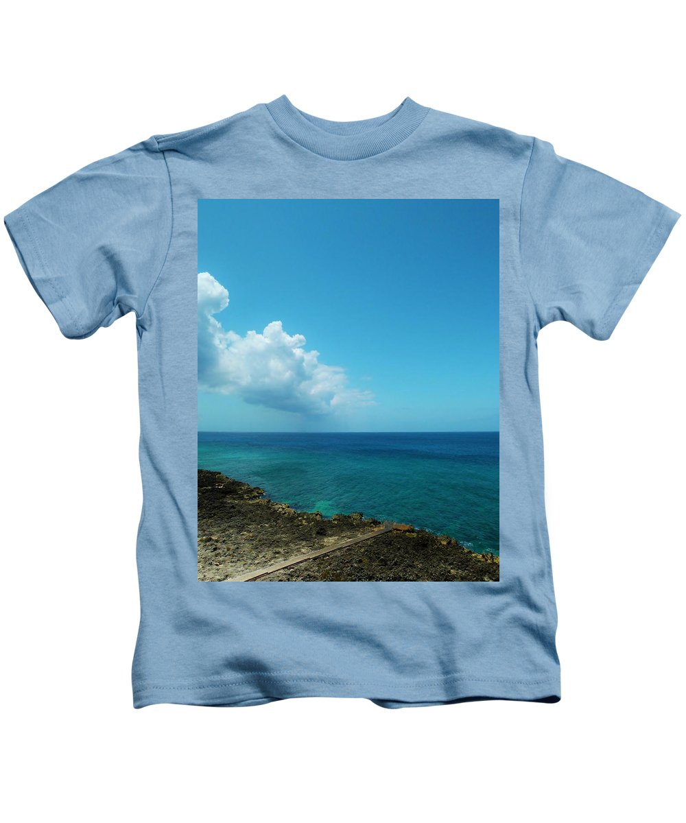 Color Kids T-Shirt featuring the photograph Into The Blue by Amar Sheow