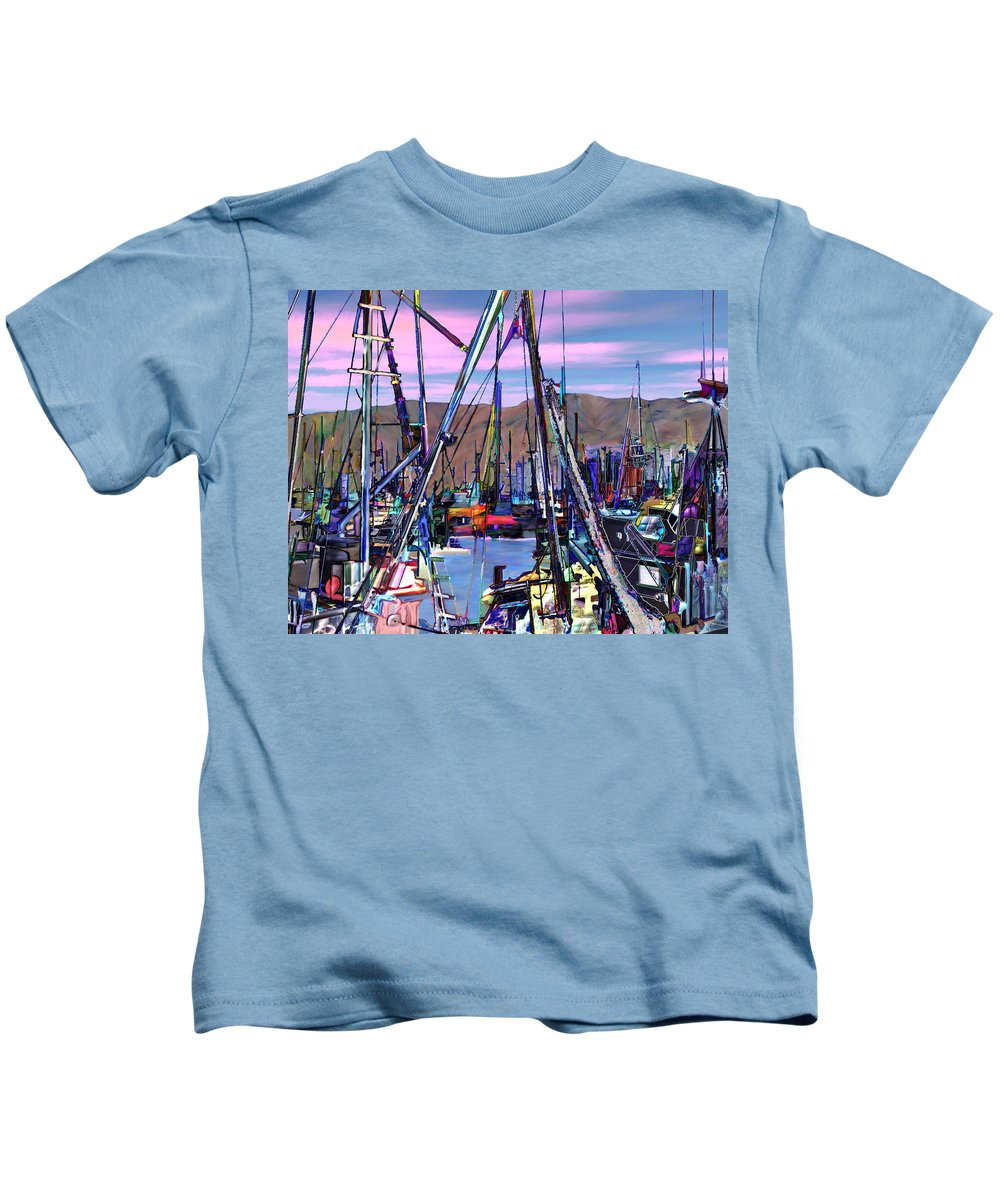 Harbors Kids T-Shirt featuring the photograph Jammin At Twilight by Kurt Van Wagner