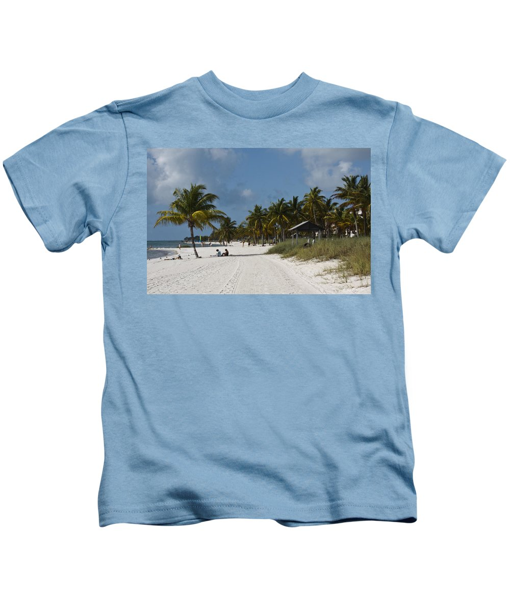 Florida Kids T-Shirt featuring the photograph Key West - Smathers Beach by Ronald Reid
