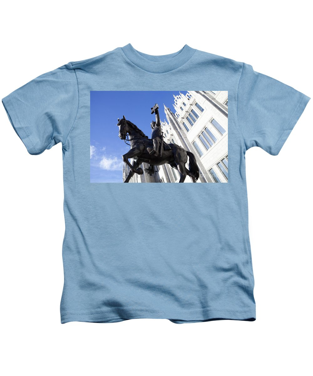 Architecture Kids T-Shirt featuring the photograph King Robert The Bruce by Diane Macdonald