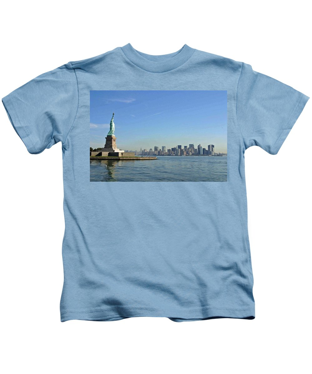 Statue Of Liberty Kids T-Shirt featuring the photograph Lady Liberty 09 by Pamela Critchlow