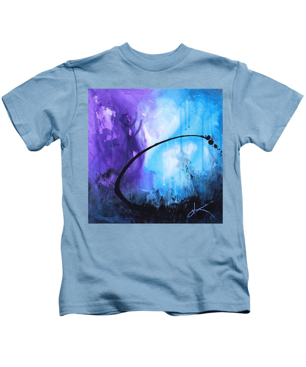 Lagoon Kids T-Shirt featuring the painting Lagoon by Kume Bryant