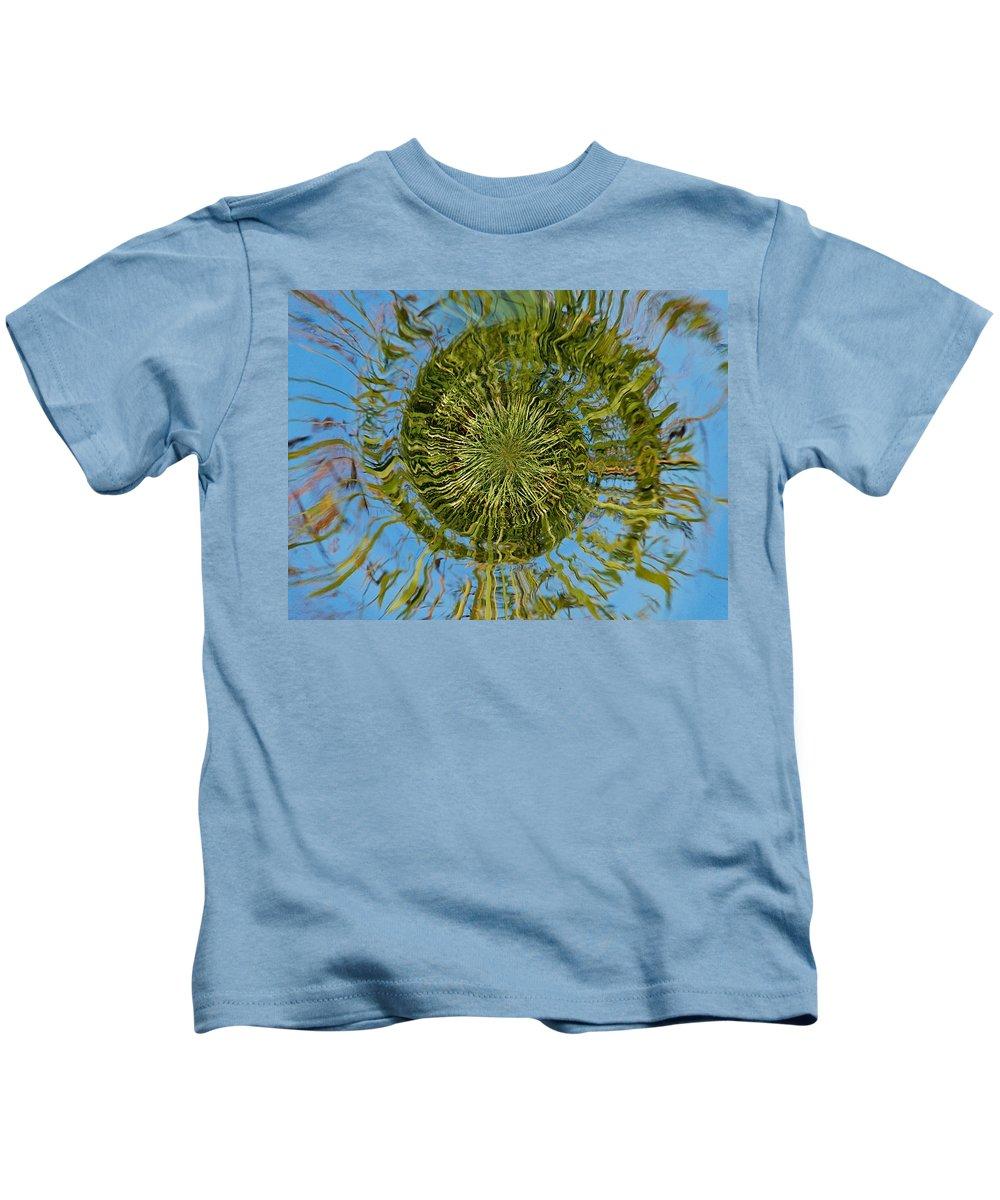Finland Kids T-Shirt featuring the photograph Lake Swirl by Jouko Lehto